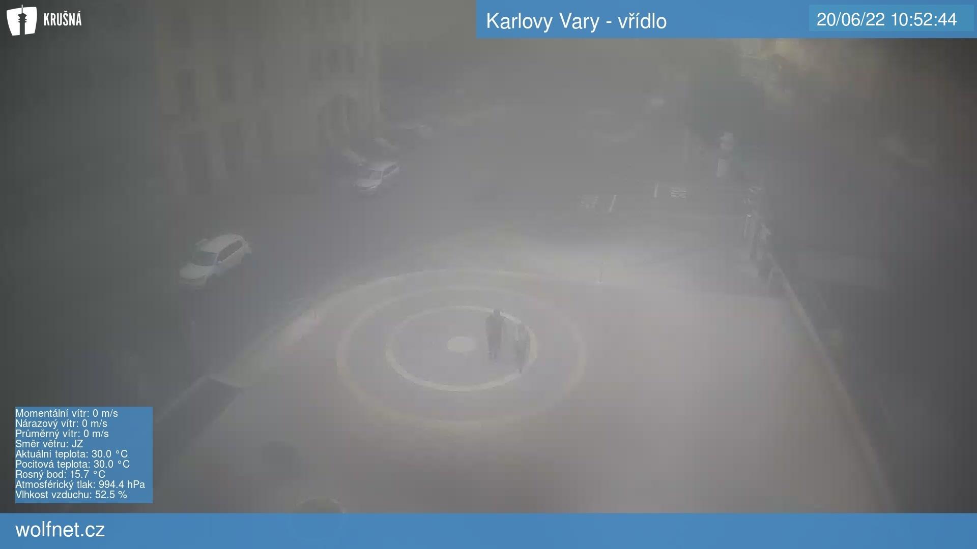 Webkamera Karlovy Vary vřídlo