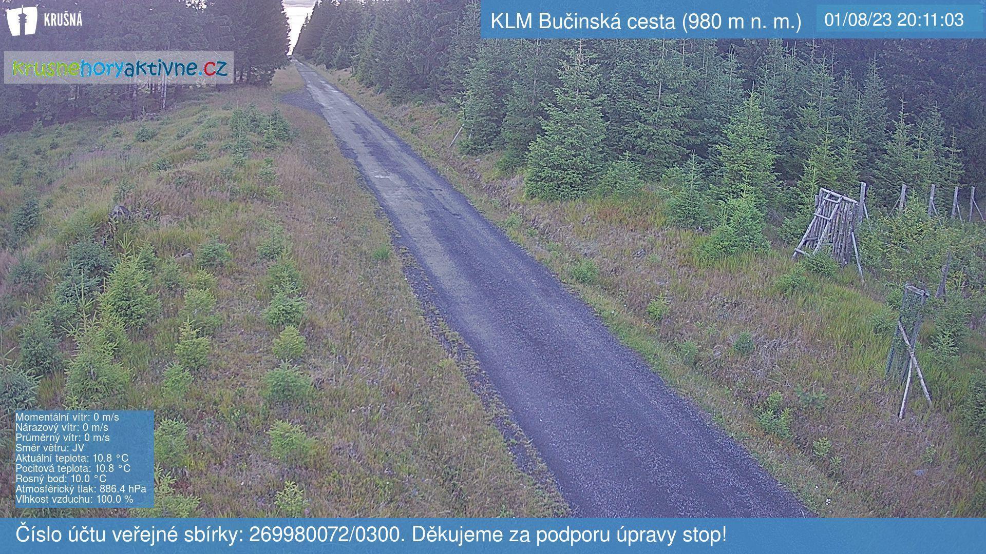 Webkamera KLM Bučinská cesta (980 m n. m.)